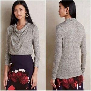 Anthropologie Deletta Metallic Sweater